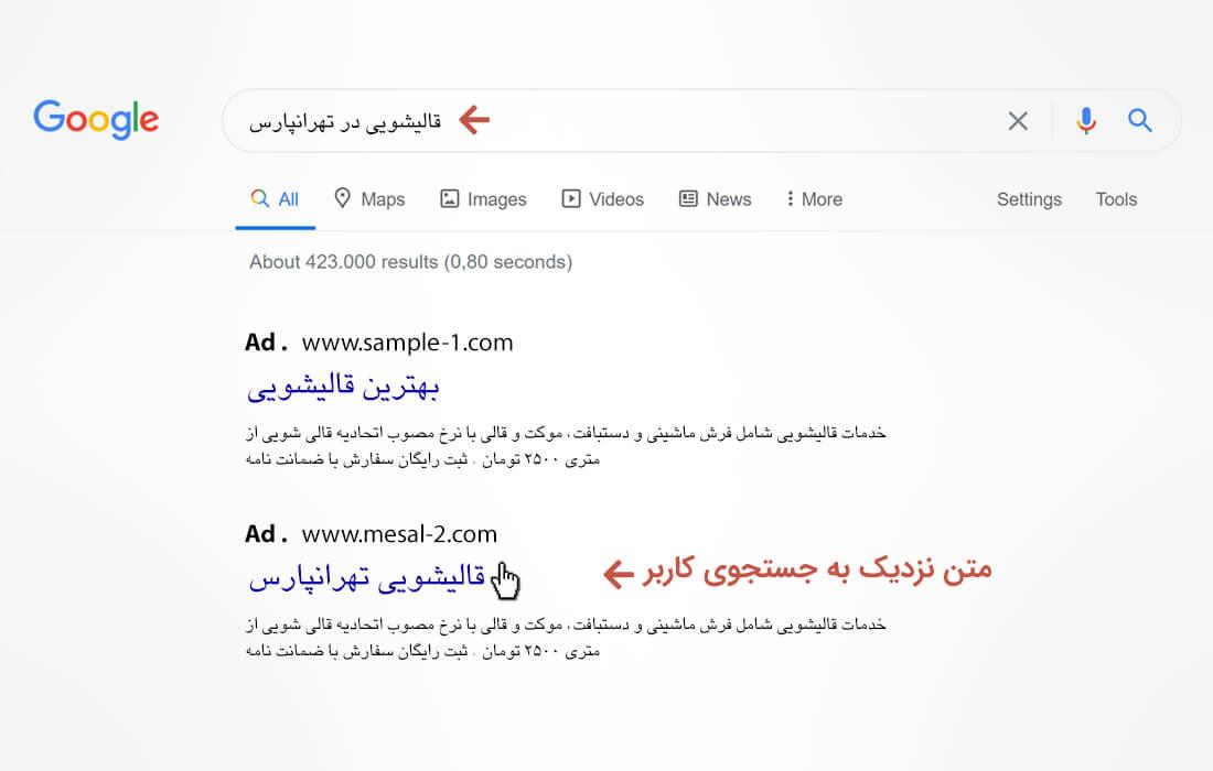 روش های نگارش متن تبلیغات گوگل