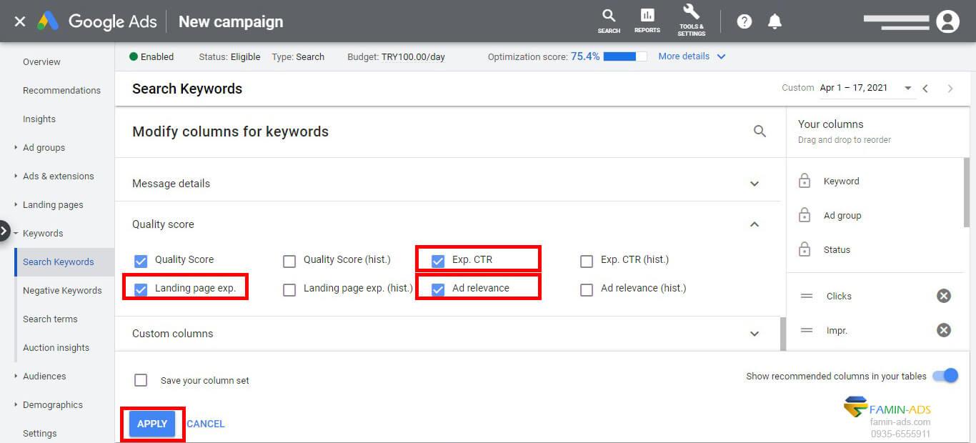بهینه سازی تبلیغات گوگل با افزایش امتیاز کیفی