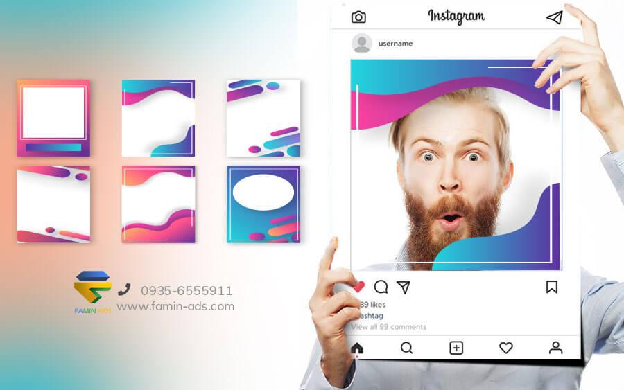 طراحی قالب برای پست اینستاگرام